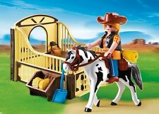 Playmobil 5516 Rodeo Horse With Stall Set