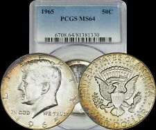 1965 Kennedy Half Dollar PCGS MS64 BU Uncirculated Toned Coin In High Grade