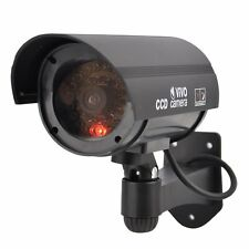 1X Bullet Fake Dummy CCTV Camera Security Surveillance Cam IR Record Flash Light