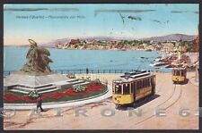 GENOVA CITTÀ 393 QUARTO MONUMENTO DEI MILLE GARIBALDI - TRAM Cartolina viag 1932