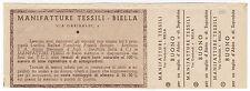 COUPON BUONO SCONTO PER MANIFATTURE TESSILI BIELLA VIA GARIBALDI  3-378