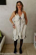 jolie robe dos nu blanche et jeans HIGH USE  taille 38  NEUVE ÉTIQUETTE val 460€