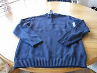Boys youth XL 20 navy blue Tommy Hilfiger sweater long sleeve zip pull over NEW
