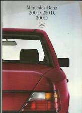 MERCEDES BENZ 200 D 250 D AND 300 D  SALES BROCHURE JUNE 1985