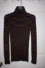 Womens Missoni Multi-Color Turtleneck Sweater Size 38 / US 2