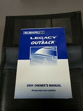 2001 SUBARU LEGACY/OUTBACK OWNER'S MANUAL WITH CASE