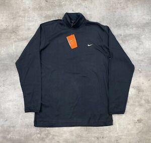 Nike Mens Roll Neck Golf Pullover Black - M