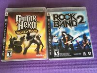 Rock Band2/Guitar Hero World Tour PlayStation3/ PS3 Sony AcTiVision EA Bon Jovi
