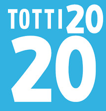 ITALIA TOTTI NAMESET 2000 SHIRT CALCIO Numero Lettera di calore stampa Football Home