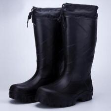 Mens Fishing Fur Lined Hunting Wading Rain Anti-Slip Wellies Mid-calf Boots shoe