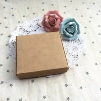 100x Kraft Paper BoxES Wedding Birthday Anniversary Favor Baptism 9.5x9.5x3cm