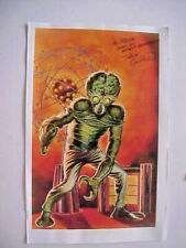 This Island Earth Sci-fi Film Mutant Art Print Autographed Artist Dave Cockrum