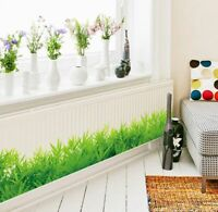 Home Decoration Green Grass Wall Sticker Living Room Bathroom Decor Wall Decal