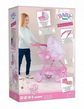 Baby Born Roamer Pretend Pram W/ Detachable Carry Cot/changing Bag Kids Toy Pink