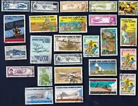 25 ALL DIFFERENT COMORES ISLANDS  STAMPS