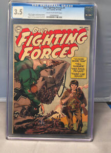 OUR FIGHTING FORCES  # 1  -  CGC  3.5        DC  -  WAR