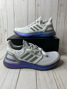 Adidas Ultraboost 20 Womens Size 7 Dash Grey Blue Violet EG1369 Running Sneakers