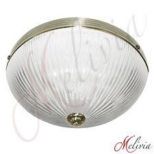 Deckenlampe Ø30cm Glas Antik Messing 2x60W Deckenleuchte Pendellampe Lampe LED