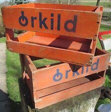 """alte dänische """" Orkild """" Getränkekiste Kiste aus Holz"""