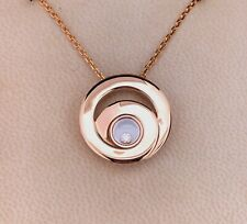 (SO4) Chopard 18ct Rose Gold Happy Diamonds Necklace 797109-5002