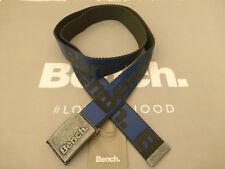 BENCH Webbing Belt Men's Bom Grey Thermowelded Allover Logo Buckle Belts BNWT