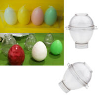2 Egg Plastic Clear Candle Molds Soap Mold Tool DIY Candle Making Craft