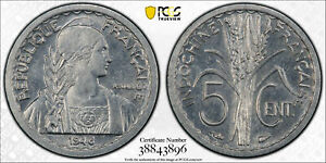 French Indo China 1946 5 Cents PCGS MS64 PC0894* combine shipping<br/><br/>The o
