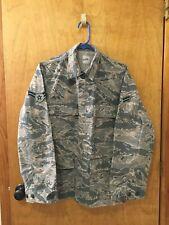 USAF US Air Force Coat Small Camo Jacket Shirt Size S 34R  Digital green/tan