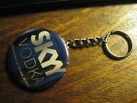 Skyy Vodka Keychain - Repurposed Magazine Logo Ad Backpack Purse Clip Ornament