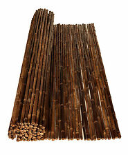 BAMBOO FENCING ROLLS SCREENS BROWN - 2.4m(H) x 1.8m(W)