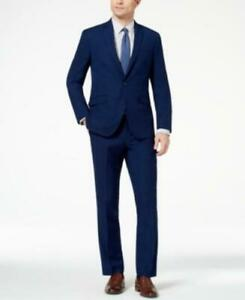 Kenneth Cole Reaction Men's Ready Flex Slim-Fit Stretch Pants Only (Blue, 29/32)