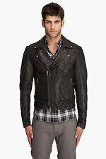 DIESEL BLACK GOLD LUPERCO BLACK LEATHER JACKET SIZE L 100% AUTHENTIC