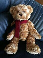 Douglas Sammler Teddy Bär 2002 braun Schal kuschelig weich 38 cm groß XXL riesig