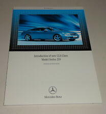 Workshop Manual / Service Introduction Mercedes-Benz CLS-Class W 219 from 8/2004