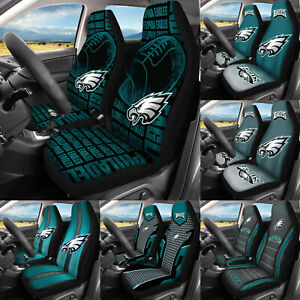 Philadelphia Eagles 2PCS Car Front Seat Covers Universal Cushion Protector Gifts