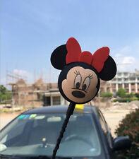 Black Mickey Minnie Antenna Balls Car Aerial Ball Antenna Topper Decor Pen Ball