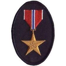 Bronze Star Military Veteran Embroidered Motorcycle POW Vet Biker Patch PAT-0353