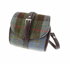 Authentic Harris Tweed Mini Bag Traditional Green Brown Tartan Check