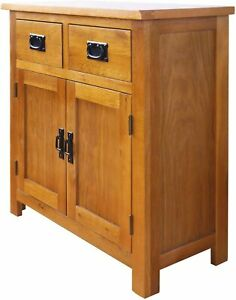 Vintage Rustic Sideboard Small Wooden Cabinet Furniture Storage Buffet Cupboard