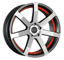 Corspeed Challenge Higloss-Gunmetal-Polished/Undercut Color Trim Red