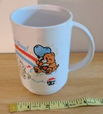 1980's Pizza Hut Care Bears Handle Drinking Cup Have A Bear-rific Day As Is