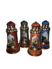 Thomas Kinkade, 2004 Ceramic, 4 Piece, Victorian Lighthouse Collection
