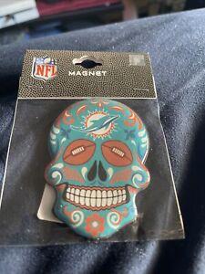 Miami Dolphins Sugar Skull Magnet NFL