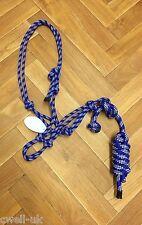 Rope Halter Natural Horsemanship/Parelli ONE SIZE F,C,P BLUE/WHITE , lead sale