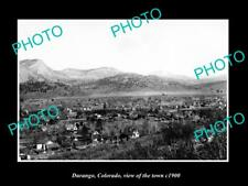 OLD LARGE HISTORIC PHOTO DURANGO COLORADO, PANORAMA VIEW OF THE TOWN c1900 1