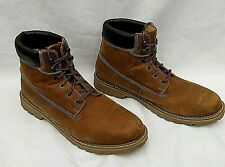 ONFIRE DARK BROWN LEATHER LACE UP BOOTS UK11 FREE UK POSTAGE!!