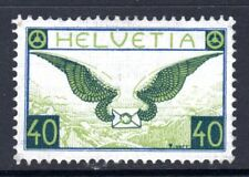 (029)    Switzerland 1923-40 Air Blue & Apple Green SG322a LM/Mint (Grilled Gum)