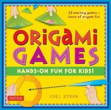 Origami Games: Hands-On Fun for Kids! by Joel Stern Hardcover Book (English)