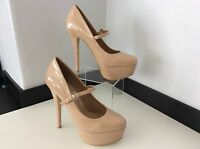 CARVELA BY Kg Nude Brand New  Patent Leather Shoes Heel Uk 7 40 Court Rrp £100