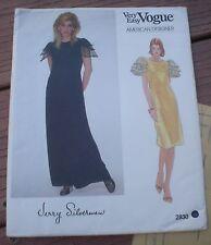 NEW Vogue 2830 American Designer Jerry Silverman Short or Long Dress 12 Bust 34